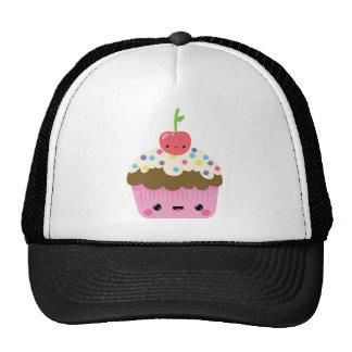 Kawaii Cupcake with Cherry on Top Trucker Hat