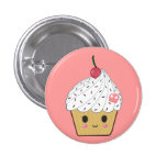 Kawaii Cupcake with Pink Sugar Skull and Cherry Buttons