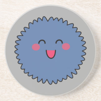 Kawaii Cute Blue Fuzzy Drink Coaster