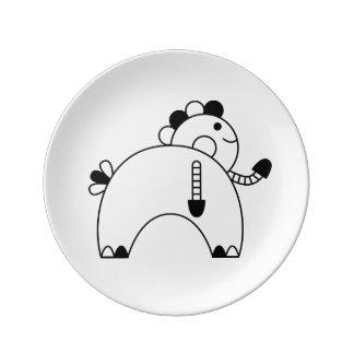Kawaii cute cartoon character plates porcelain plate