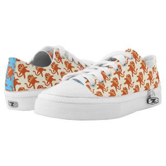 Kawaii Cute Cheeky Monkeys Printed Shoes
