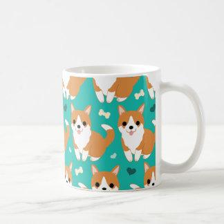 Kawaii Cute Corgi dog simple illustration pattern Coffee Mug