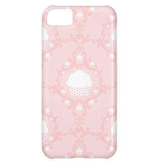 Kawaii cute damask wallpaper pink cupcake cupcakes iPhone 5C case