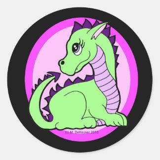 Kawaii Cute Dragon Classic Round Sticker