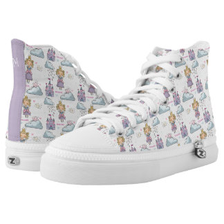 Kawaii Cute Fairy Tale Princess Castle. High Tops
