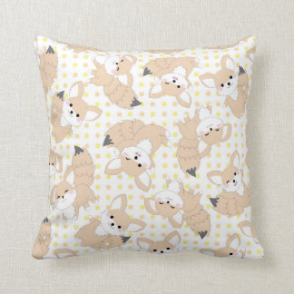 Kawaii Cute Fennec Fox Pillow