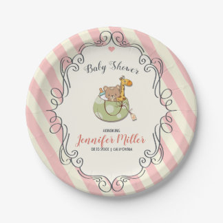 Kawaii Cute Frame. Baby Shower. Paper Plate