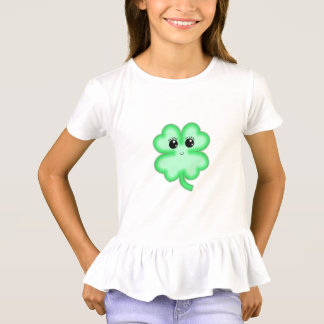 Kawaii cute funny  fun four leaf clover green mint T-Shirt