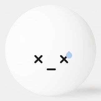 Kawaii Cute Funny Smiley Face. Emoji. Emoticon. Ping Pong Ball