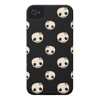 Kawaii cute goth girly skull emo skulls pattern iPhone 4 Case-Mate cases