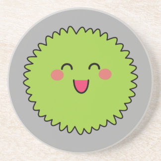 Kawaii Cute Green Fuzzy Coasters