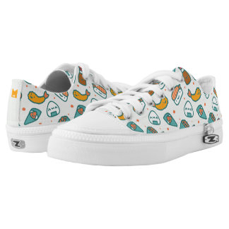Kawaii Cute Japanese Sushi Pattern. Monogram. Low Tops