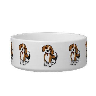 Kawaii Cute Little Puppy Dog. Beagle! Pet Water Bowl