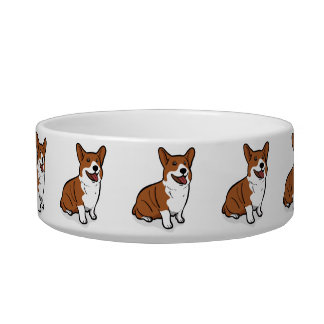 Kawaii Cute Little Puppy Dog. Corgi! Cat Bowls