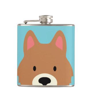 Kawaii Cute Little Puppy Dog. Flask
