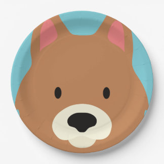 Kawaii Cute Little Puppy Dog. Paper Plate