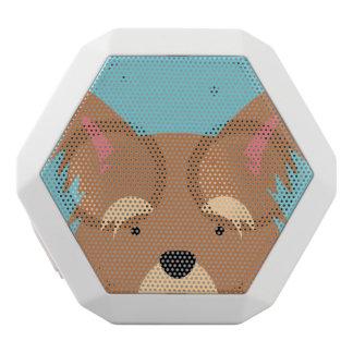 Kawaii Cute Little Puppy Dog. White Bluetooth Speaker