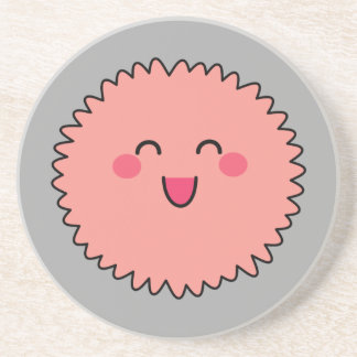 Kawaii Cute Pink Fuzzy Drink Coasters