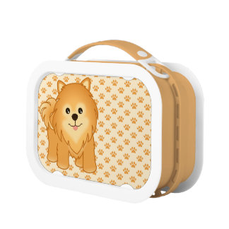 Kawaii Cute Pomeranian Puppy Dog Cartoon Animal Lunch Box