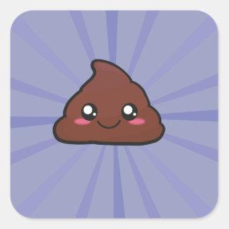 Kawaii cute poop sticker