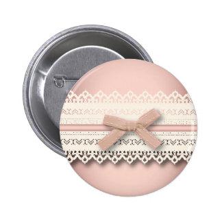 kawaii cute princess pink bow lace girly 6 cm round badge