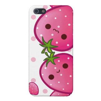 Kawaii cute strawberries iPhone 5/5S cases
