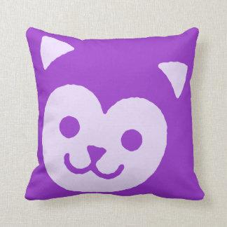Kawaii Cute Sweet Kitty Cat Face Throw Pillows