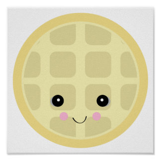 kawaii cute waffle posters