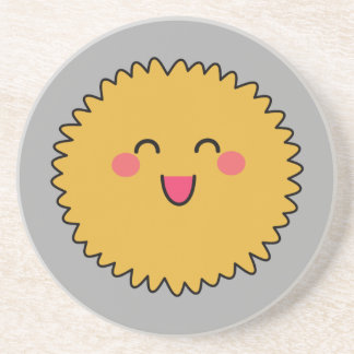 Kawaii Cute Yellow Fuzzy Coasters