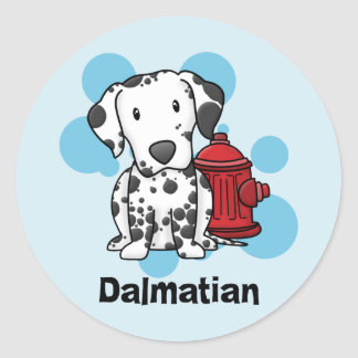 Kawaii Dalmatian & Fire Hydrant Stickers