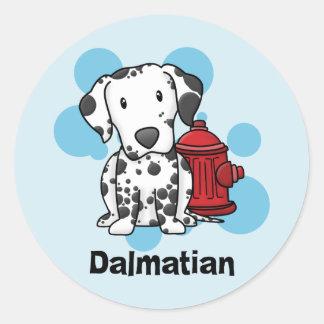 Kawaii Dalmatian Fire Hydrant Stickers
