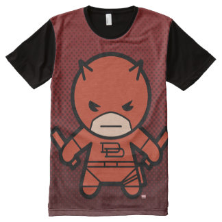 Kawaii Daredevil With Paired Short Sticks All-Over Print T-Shirt