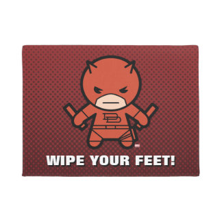 Kawaii Daredevil With Paired Short Sticks Doormat