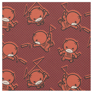 Kawaii Daredevil With Paired Short Sticks Fabric