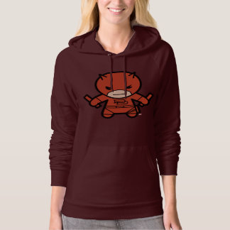Kawaii Daredevil With Paired Short Sticks Hoodie
