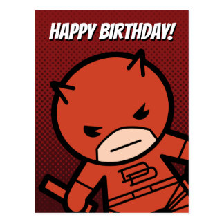 Kawaii Daredevil With Paired Short Sticks Postcard