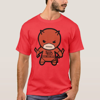 Kawaii Daredevil With Paired Short Sticks T-Shirt