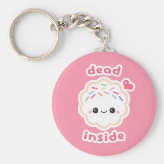 Kawaii Dead Inside Cookie Key Ring