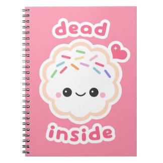 Kawaii Dead Inside Cookie Notebook