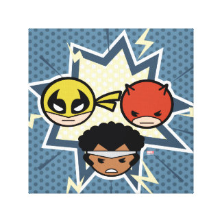 Kawaii Defenders Canvas Print