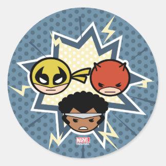 Kawaii Defenders Classic Round Sticker