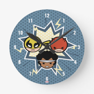 Kawaii Defenders Round Clock