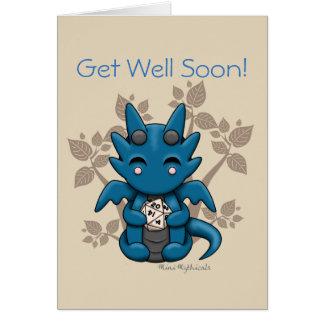 Kawaii Dice Dragon Greeting Card