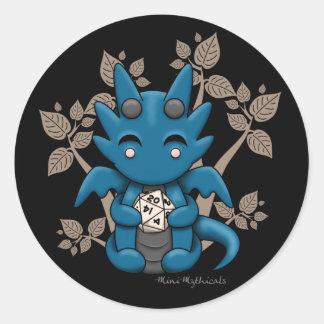Kawaii Dice Dragon Sticker