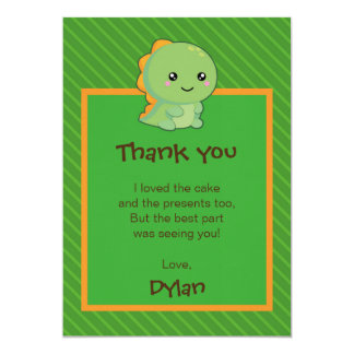 Kawaii Dinosaur Card