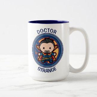 Kawaii Doctor Strange Emblem Two-Tone Coffee Mug