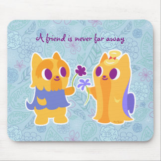 Kawaii Dog Best Friend or Puppy Love Yorkies Mouse Pad