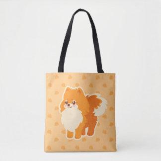 Kawaii Dog Cartoon Pomeranian Tote Bag