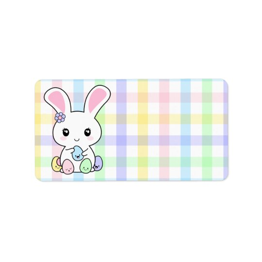 Kawaii Easter Bunny Address Label