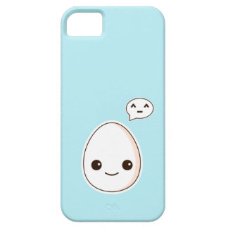 Kawaii Egg with a hapy face sky Blue iPhone 5 Covers